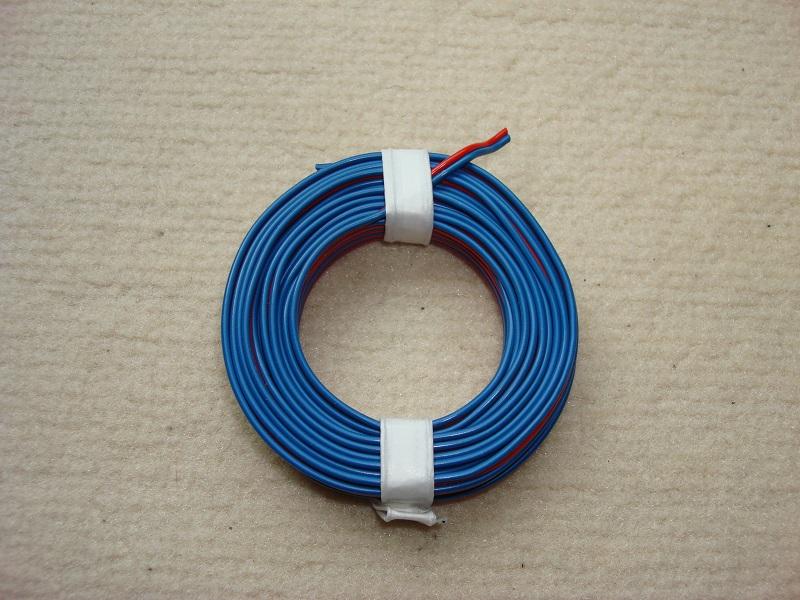 5 m Zwillingslitze 0,25 mm² rot/blau