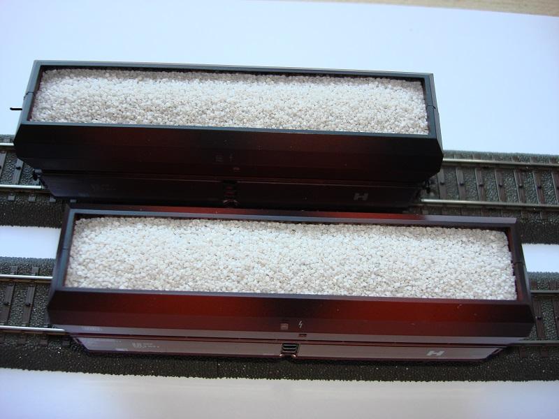 0,5 kg Ladegut lichtgrau, Kalkersatz, Spur N / TT, 0,2 - 0,6 mm Koernung