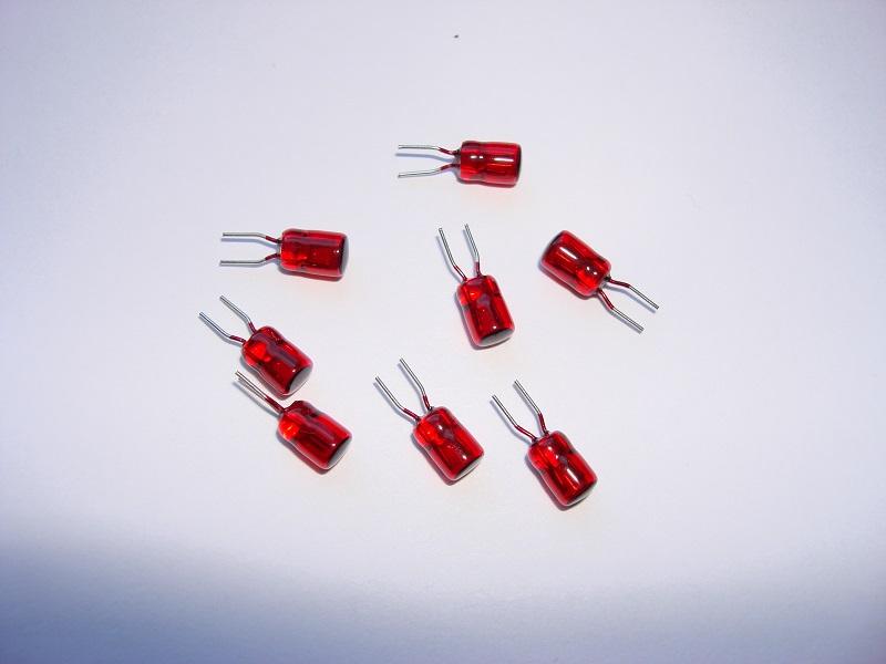 8 Steckgluehlampen rot 5 V / 30 mA (Versandkostenfrei)