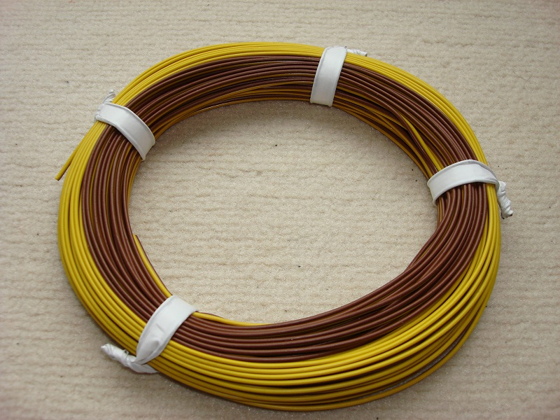 25 m Zwillingslitze 0,25 mm² gelb/braun