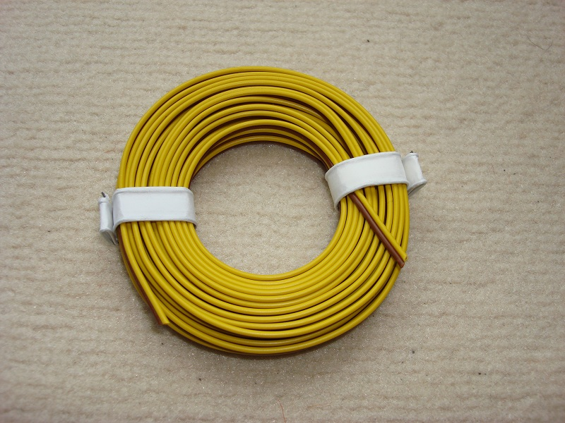5 m Zwillingslitze 0,25 mm² gelb/braun